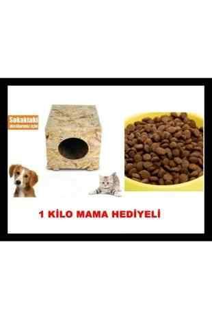 1 Kg. Mama Hediyeli Dış Mekan Kedi Kulübesi Osb Kedi Evi